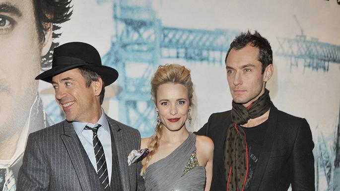 Sherlock Holmes UK Premiere 2009 Robert Downey Jr. Rachel McAdams Jude Law