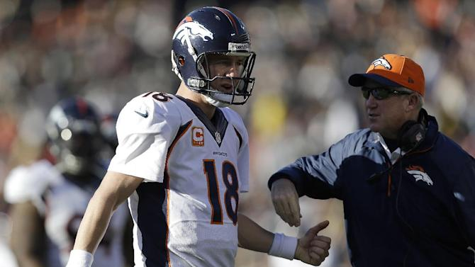 Broncos beat Raiders 34-14 for top seed in AFC