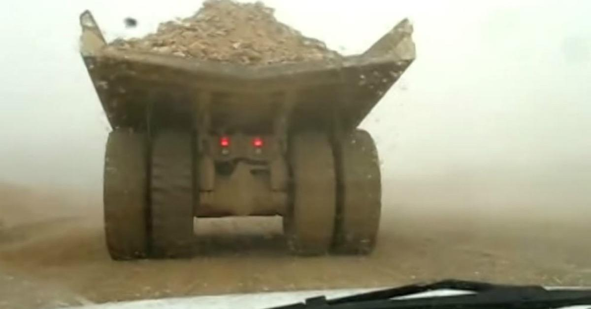 Watch This Mining Truck Lose Control!