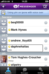 Yahoo! Messenger on iPhone