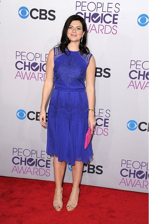 "BEST: Casey Wilson.  It's a stylish ""Happy Ending"" for Wilson, who pulls off a bold cobalt blue Jerome C. dress paired with a bright pink clutch."