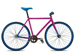 Single speed bike neon fixie