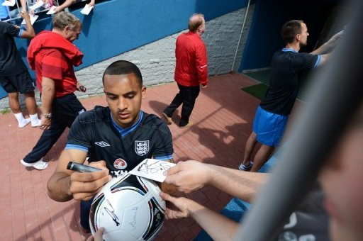 English forward Theo Walcott …