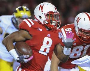 Nebraska beats No. 20 Michigan 23-9; Robinson hurt