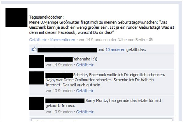 Social Fail, Peinliche Facebook-Posts