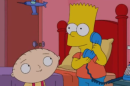 Animated worlds collide in five-minute clip from the 'Simpsons'–'Family Guy' crossover episode