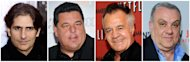 "This photo combination of file photos shows, from left to right, Michael Imperioli, Steve Schirripa, Tony Sirico and Vincent Curatola. The former actors from the classic mob drama ""The Sopranos"" are reuniting on a Nickelodeon kids TV movie, ""Nicky Deuce."" The new movie is currently in production in Montreal. It's set to premiere next year on Nickelodeon, the network said Monday, Aug. 20, 2012. (AP Photo/Peter Kramer, Evan Agostini)"