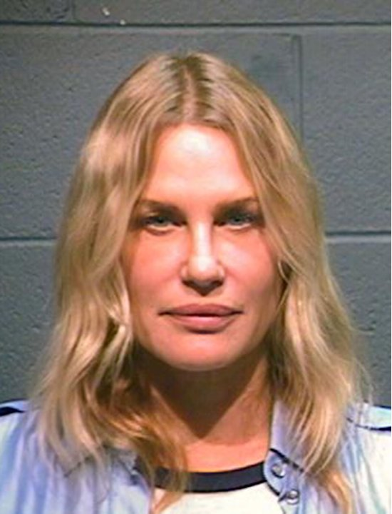 This booking photo provided by the Wood County Sheriff shows actress Daryl Hannah after her arrest in Winnsboro, Texas, Thursday, Oct. 4, 2012. Hannah has been arrested along with a 78-year-old northe