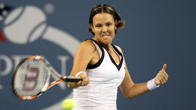 Lindsay Davenport during the 2008 U.S. Open in Queens, New York on August 29, 2008
