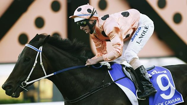 Luke Nolen rides Black Caviar to win the TJ Smith Stakes at Royal Randwick racecourse in Sydney (Reuters)