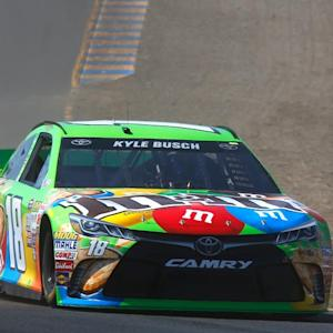 Qualifying dust-up for Kyle Busch at Sonoma