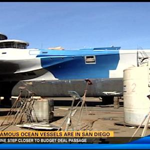 Two famous ocean vessels are in San Diego