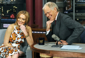 Lindsay Lohan and David Letterman | Photo Credits: Jeffrey R. Staab/CBS