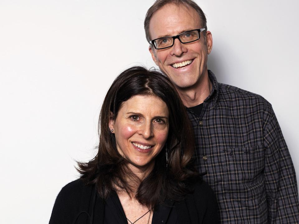 "Producer Amy Ziering, left, and director Kirby Dick, from the film ""The Invisible War,"" pose for a portrait during the 2012 Sundance Film Festival on Sunday, Jan. 22, 2012, in Park City, Utah. (AP Photo/Victoria Will)"