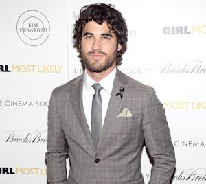 Darren Criss Wears Black Ribbon, Looks Somber at Movie Premiere After Cory Monteith's Death