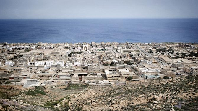 A general view of the eastern Libyan town of Dern, seen on March 15, 2011