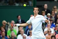 Britain's Andy Murray plays a forehand shot during his men's singles semi-final match against France's Jo-Wilfried Tsonga. Murray won 6-3, 6-4, 3-6, 7-5