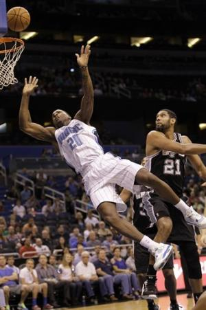 Rookie Nicholson shines, Magic beat Spurs 104-100