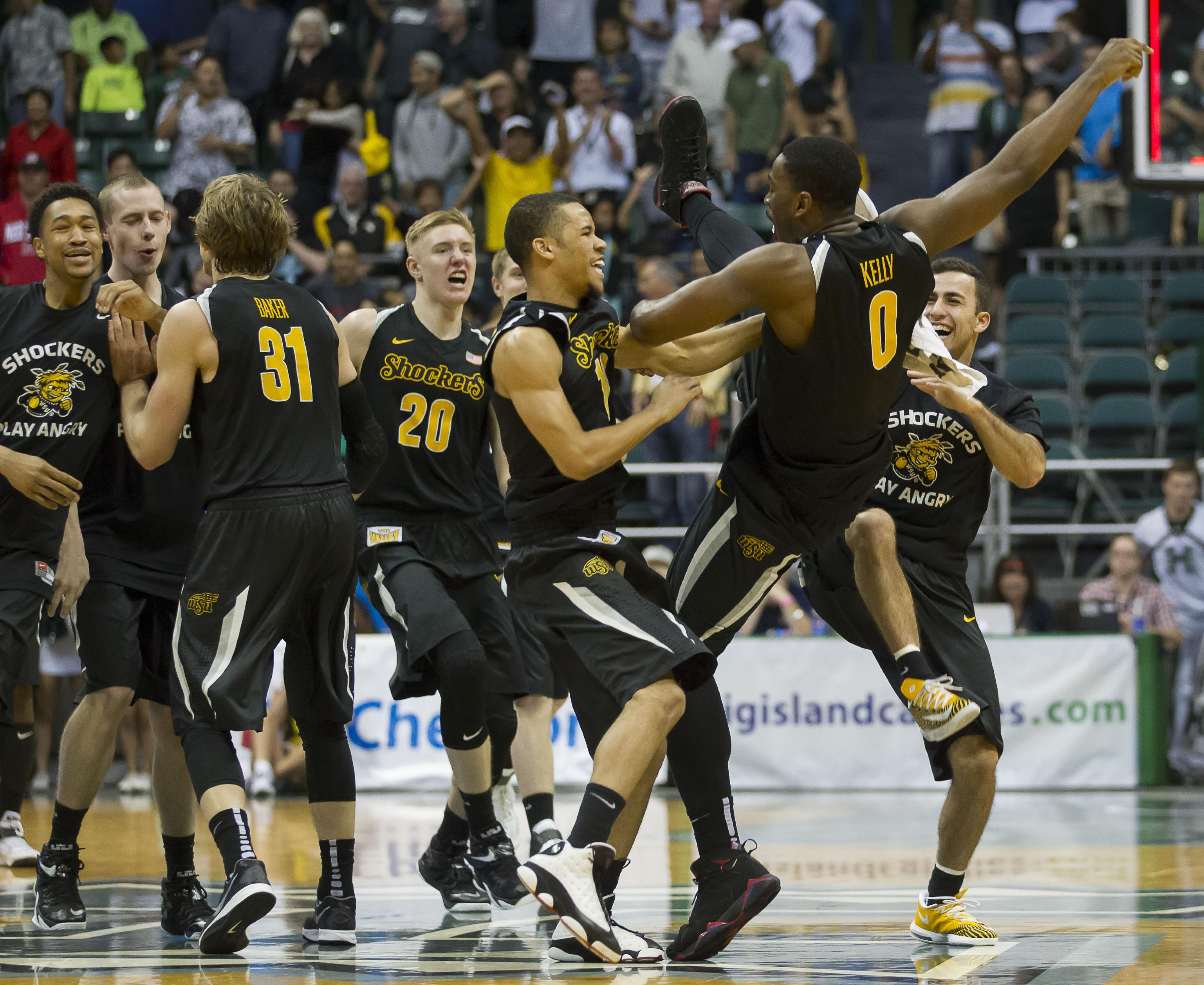 No. 11 Wichita State survives in OT against Hawaii, 80-79