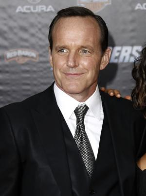 """FILE - In this April 11, 2012 file photo, actor Clark Gregg arrives at the premiere of """"The Avengers"""" in Los Angeles.  The film will be released in theaters May 4. (AP Photo/Matt Sayles, file)"""