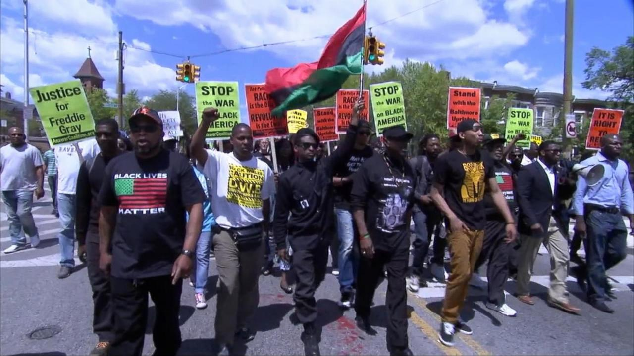 'Victory Rally' Held Following Baltimore Officers' Arrests