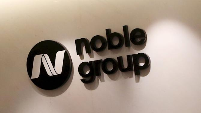 File photo of the company logo of Noble Group at its headquarters in Hong Kong