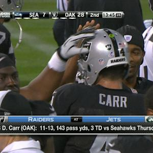 Expectations for Oakland Raiders rookie quarterback Derek Carr