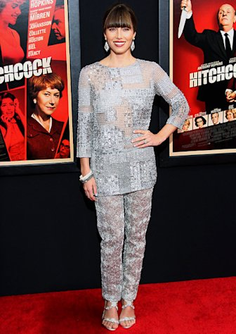 Jessica Biel attends the &quot;Hitchcock&quot; premiere at the Ziegfeld Theater on November 18, 2012 in New York City