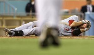 Rookies Mesoraco, Frazier lead Reds over Dodgers