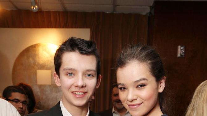 "Asa Butterfield and Hailee Steinfeld, cast members in the upcoming film ""Ender's Game"" at Lionsgate Presentation at 2013 CinemaCon, on Thursday, April, 18th, 2013 in Las Vegas. (Photo by Eric Charbonneau/Invision for Lionsgate/AP Images)"