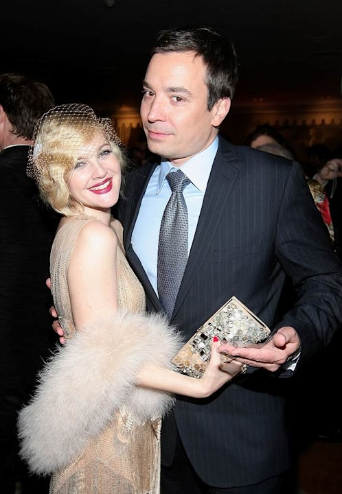 "Drew Barrymore and Jimmy Fallon attend the after party for HBO Films ""Grey Gardens""at the Pierre on April 14, 2009 in New York City."
