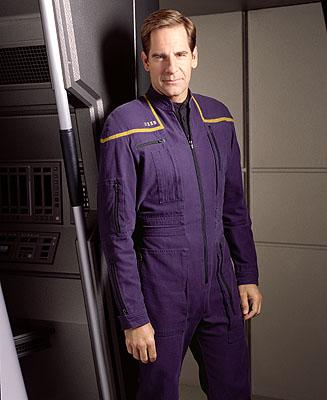 Scott Bakula as Captain Jonathan Archer on UPN's Enterprise Enterprise