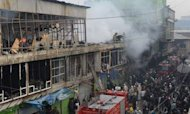 Kabul Fire Rips Through Cloth Market