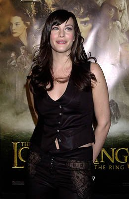 Liv Tyler at the Hollywood premiere of New Line's The Lord of The Rings: The Fellowship of The Ring