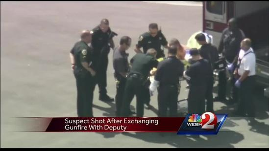 Man fired crossbow at deputies, sheriff says