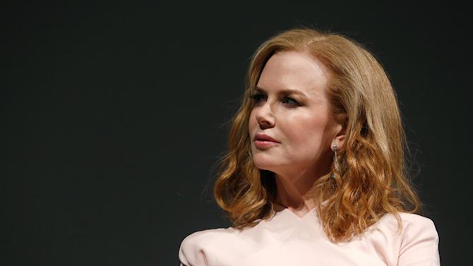 "IMAGE DISTRIBUTED FOR FOX SEARCHLIGHT - Actress Nicole Kidman speaks onstage at Fox Searchlight's ""The Stoker"" premiere during the Sundance Film Festival on Sunday, Jan. 20, 2012 in Park City, Utah. (Photo by Todd Williamson /Invision for Fox Searchlight/AP Images)"