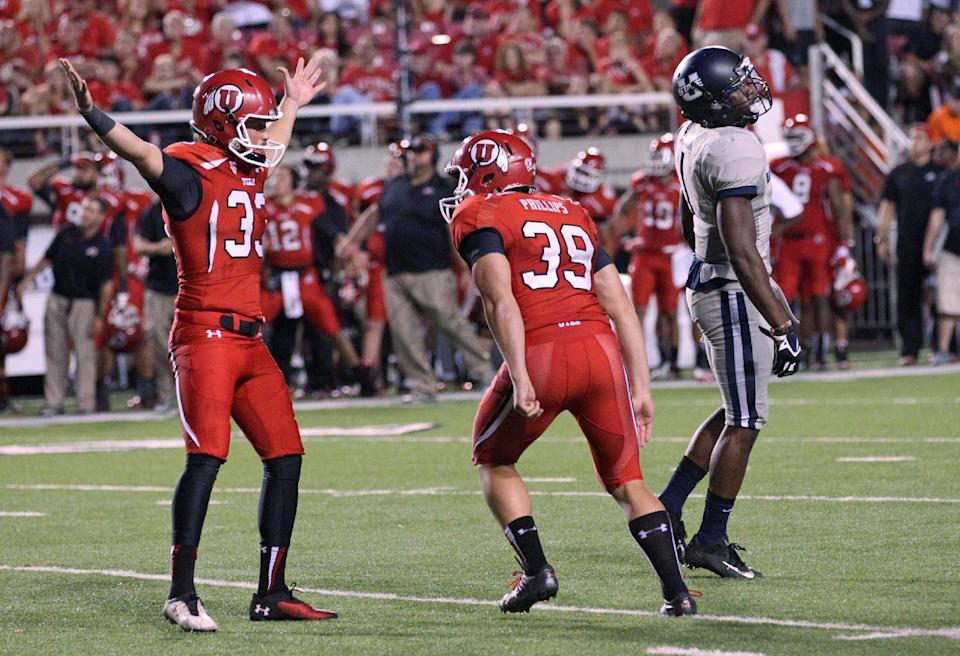 Former US skier now a kicker at Utah