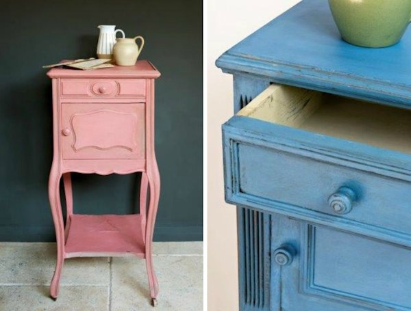 how to make furniture look old with chalk paint
