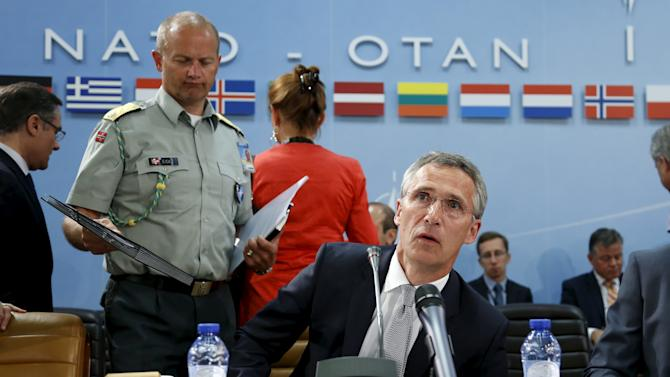 NATO Secretary General Stoltenberg chairs a meeting of the North Atlantic Council at the Alliance headquarters in Brussels