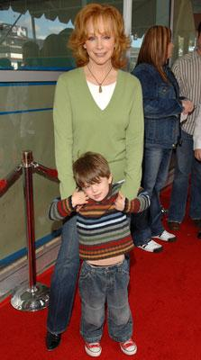 Reba McEntire and grandson at the Hollywood premiere of Paramount Pictures' Charlotte's Web