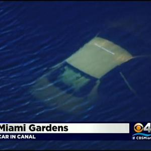 Car Crashes Into Miami Gardens Canal