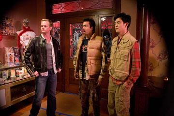 Neil Patrick Harris , Kal Penn and John Cho in New Line Cinema's Harold and Kumar Escape From Guantanamo Bay