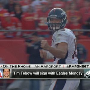 Quarterback Tim Tebow to sign a one-year contract with the Philadelphia Eagles