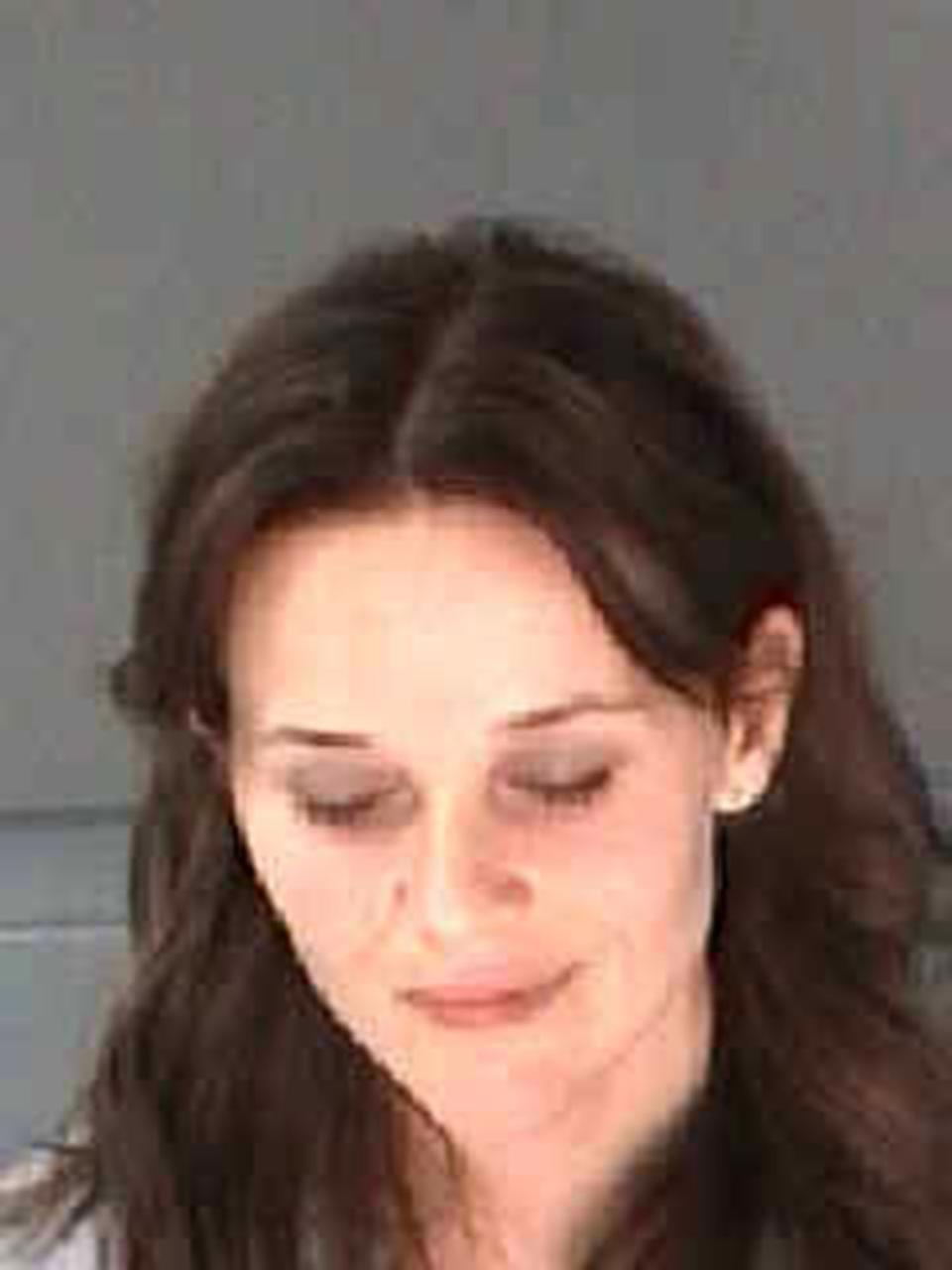This undated photo provided by the City of Atlanta Department of Corrections shows Reese Witherspoon. The Oscar-winning actress was arrested on a disorderly conduct charge after a state trooper said she wouldn't stay in the car while her husband, James Toth, was given a field sobriety test in Atlanta. (AP Photo/City of Atlanta Department of Corrections)