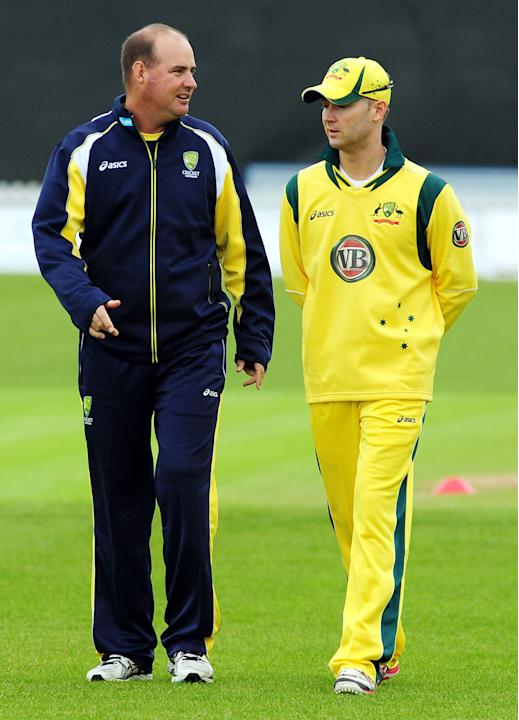 Cricket - Michael Clarke and coach Mickey Arthur File Photo