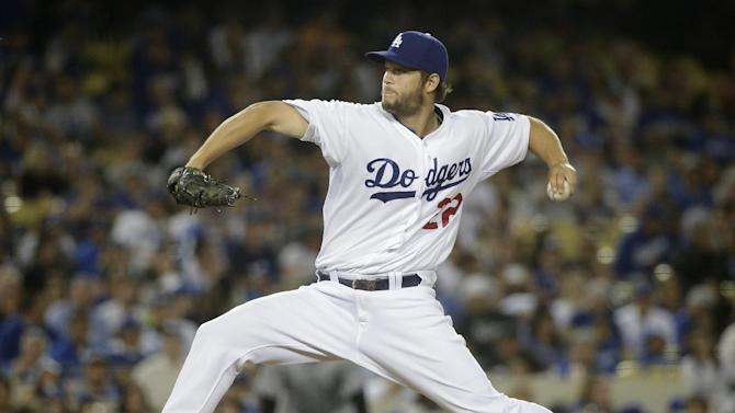 Los Angeles Dodgers starting pitcher Clayton Kershaw throws against the Colorado Rockies during the fourth inning of a baseball game, Friday, April 17, 2015, in Los Angeles. (AP Photo/Jae C. Hong)