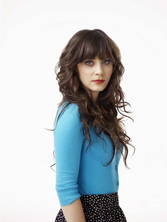 "Zooey Deschanel as Jess in ""New Girl."""