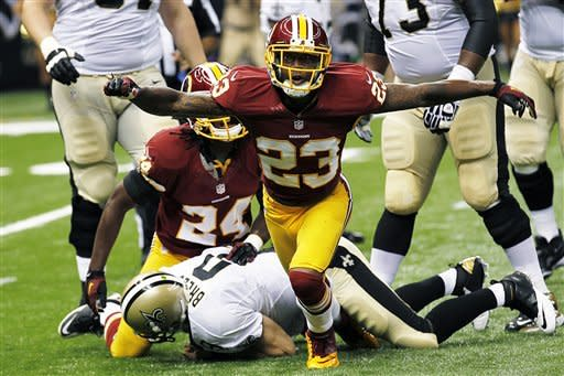Griffin shines as Redskins down Saints, 40-32