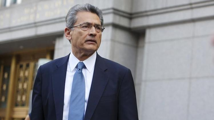 Former Goldman Sachs Group Inc board member Rajat Gupta leaves Manhattan Federal Court in New York