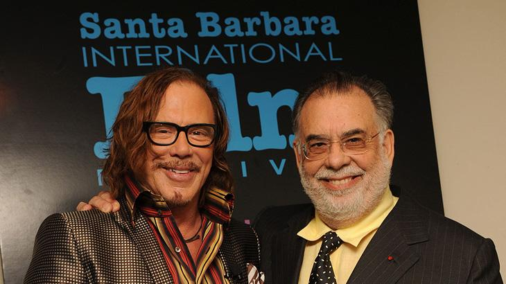 Santa Barbara International Film Festival 2009 Mickey Rourke Francis Ford Coppola